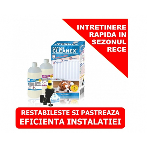 DOCTOR CLEANEX - PACHET COMPLET DE CURATARE SI PROTECTIE INSTALATII TERMICE
