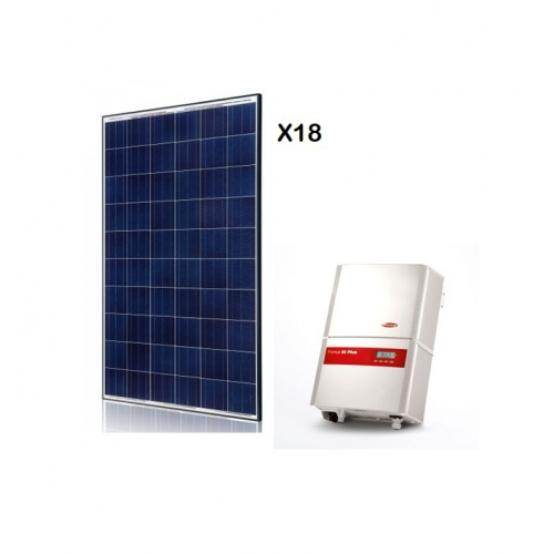 KIT FOTOVOLTAIC ON-GRID DE 5000 W CU INJECTARE IN RETEA FRONIUS IG-PLUS 50 V-1