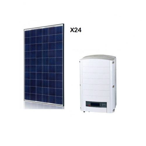 PACHET PANOURI FOTOVOLTAICE DE 6 KW CU INVERTOR ON-GRID SOLAREDGE SE 5K