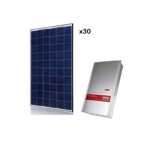 KIT SOLAR FOTOVOLTAIC ON-GRID DE 7,5 KW CU LIVRARE IN RETEA FRONIUS IG-PLUS 100 V-2