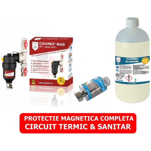 PACHET CURATARE SI PROTEJARE INSTALATII TERMICE NOI CLEANEX MAG PACK